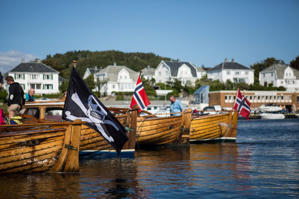 Wooden boats in Farsund Norway