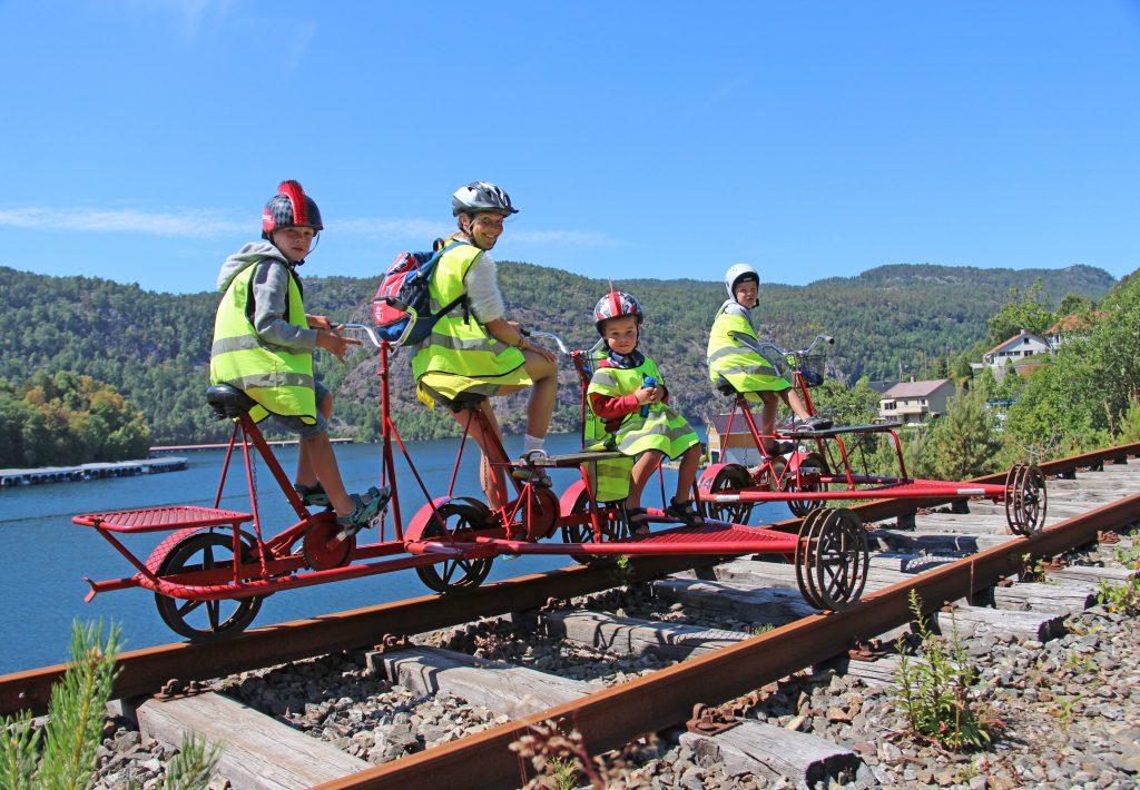 Rail biking Flekkefjord Norway