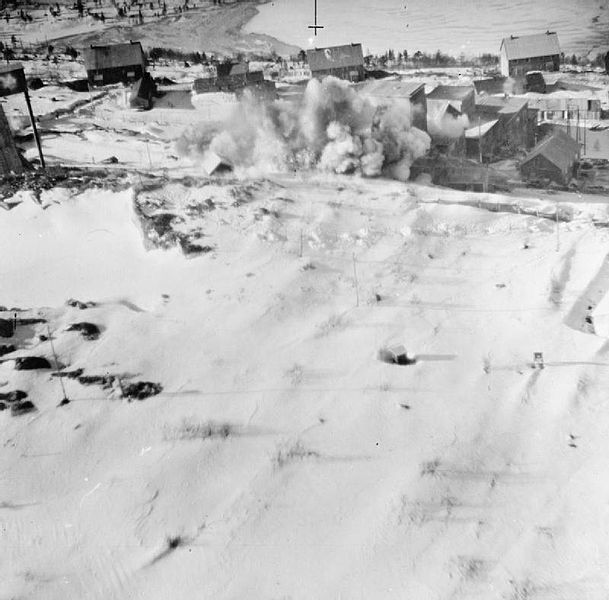 Knaben being bombed March 1943