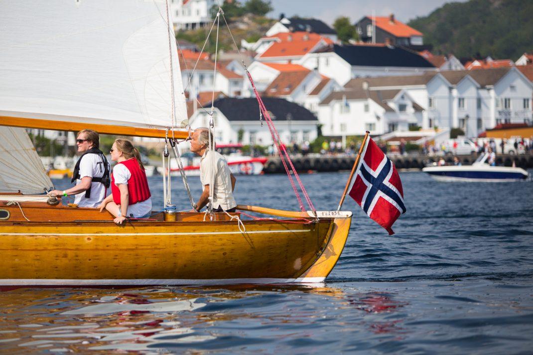 Wooden boat festival in Risør Norway