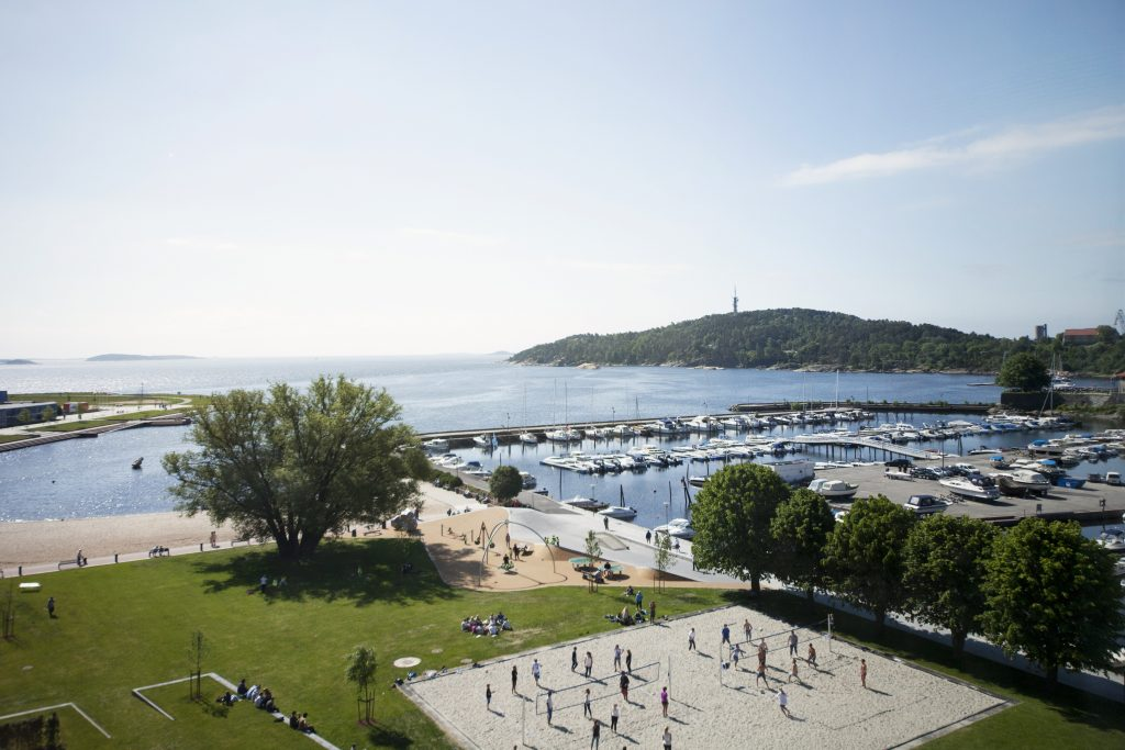 Pust ut og nyt utsikten fra Sørlandet største hotell. Foto: Scandic Kristiansand Bystranda