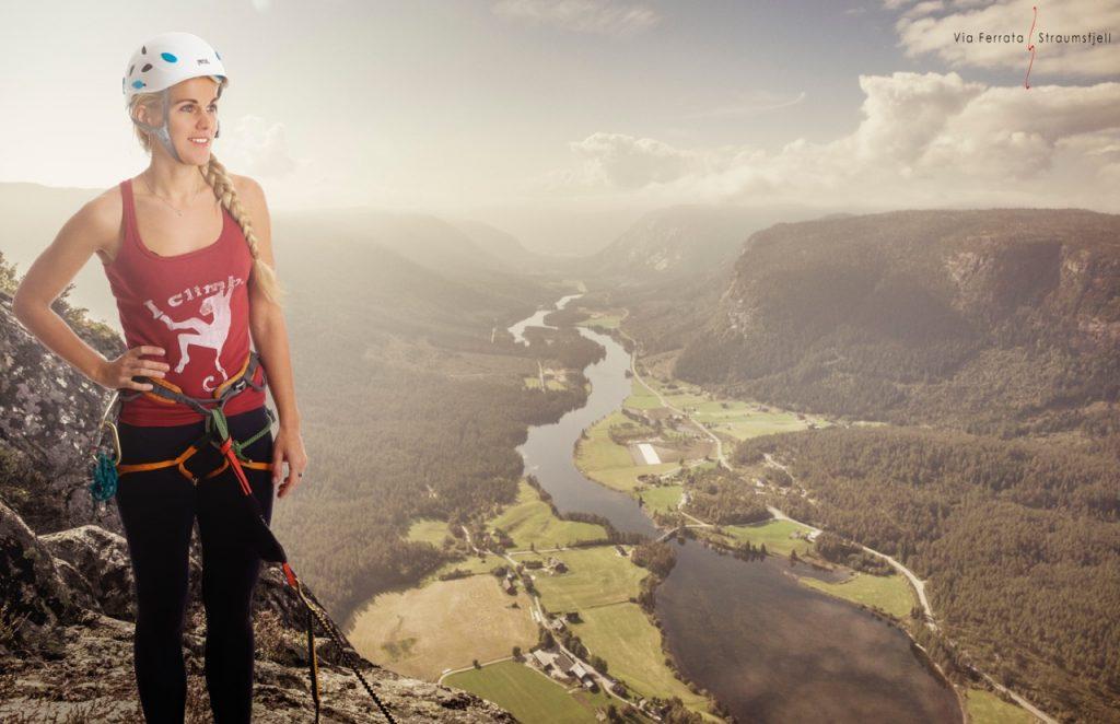 I Valle kan du klatre Via Farrata til toppen av Straumsfjellet. | Foto: Tom Knudsen