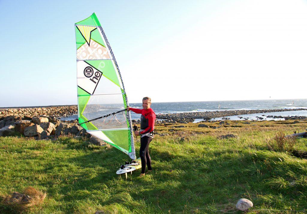 Windsurfing på Lista