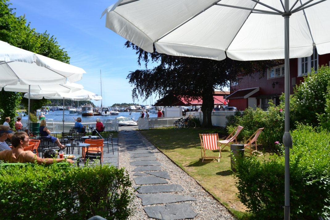 Kafe Strandhaven i Lillesand - Foto Elisabeth Høibo