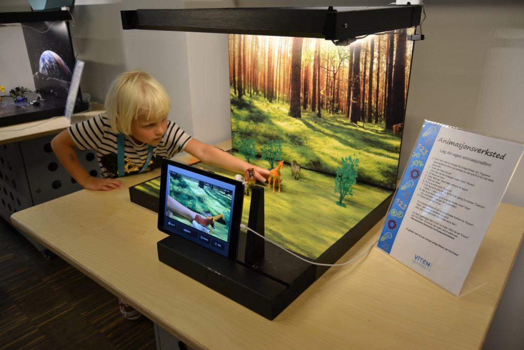 Gå ikke glipp av muligheten til å lage din egen animasjonsfilm. Foto: E. Høibo©Visit Sørlandet
