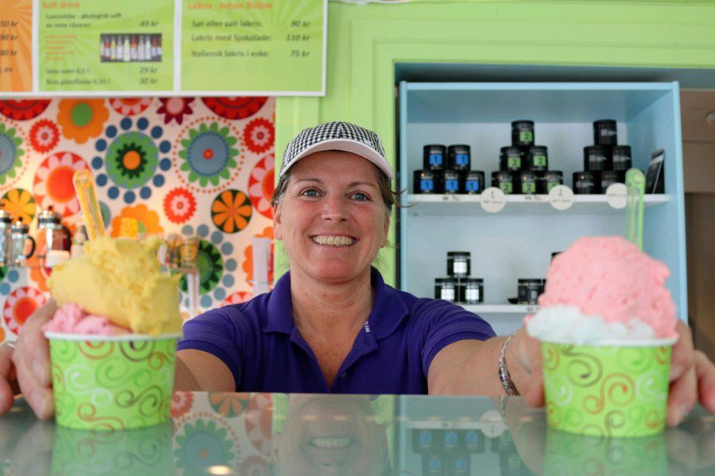 Smaken av Italia får du på Lillis gelato i Lillesand. Foto: E. Høibo©Visit Sørlandet