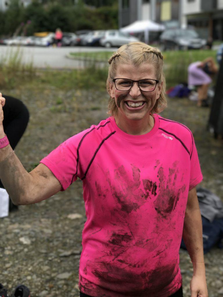 Hildegunn på Dirty Girls Mud Run Kristiansand 2017