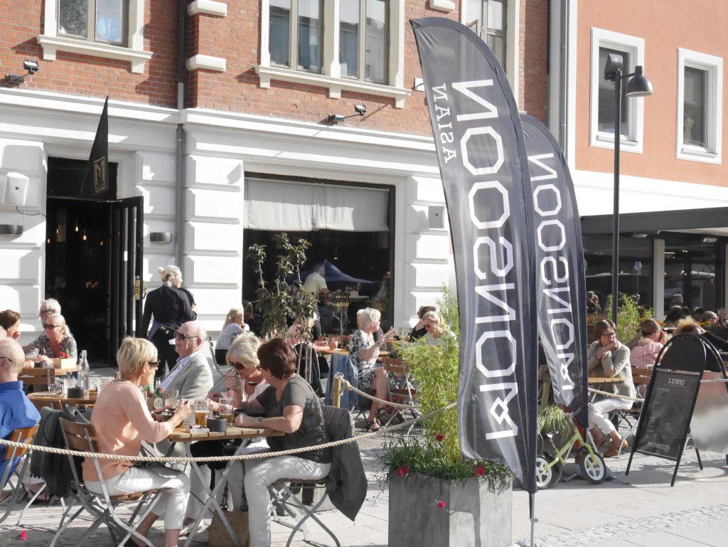 Uteservering på Monsoon restaurant i Kristiansand