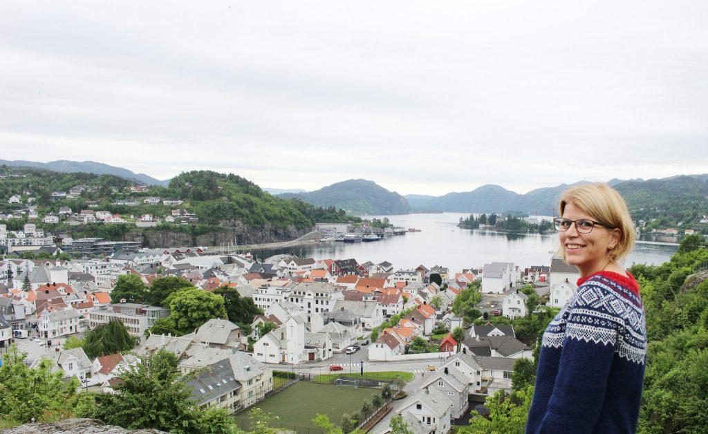 Utsiktspunktet Lilleheia i Flekkefjord
