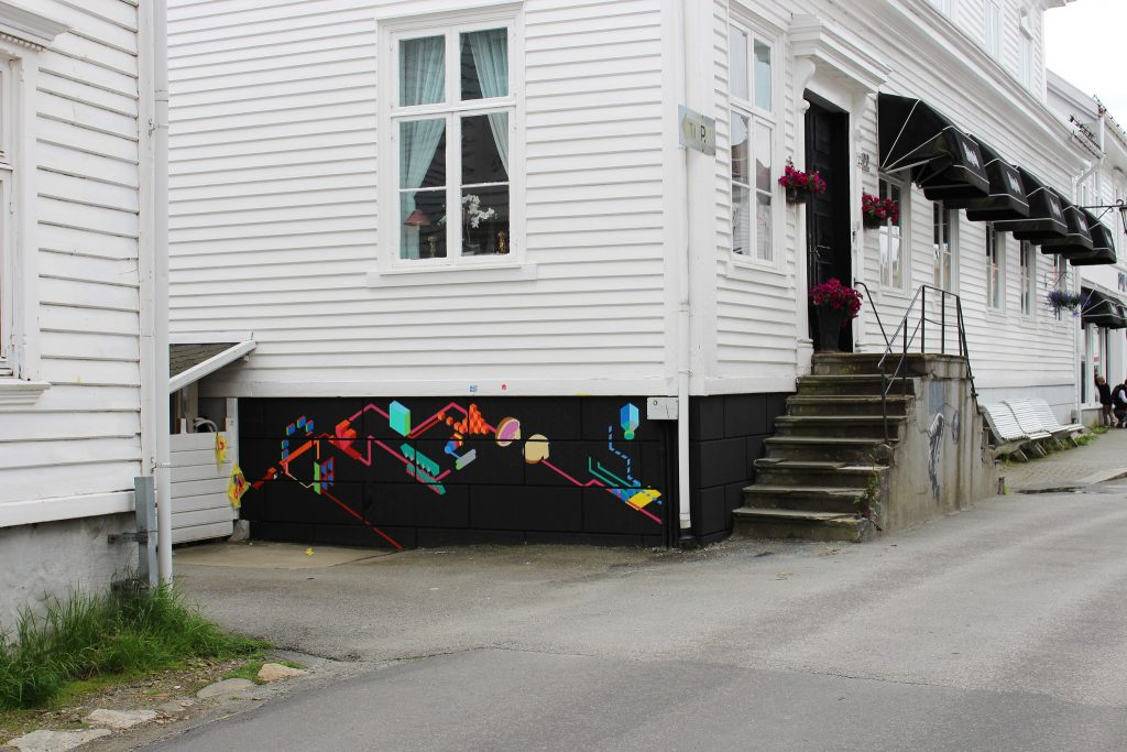 Gatekunst i Hollenderbyen i Flekkefjord