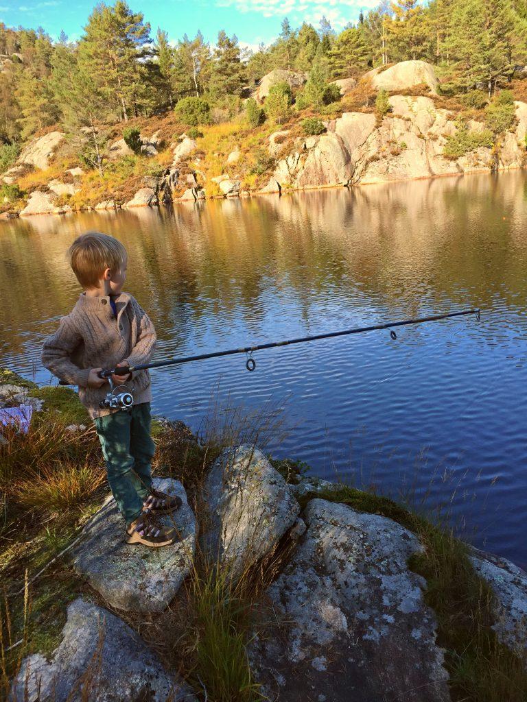 Ørretfiske på Birkeland Gård.