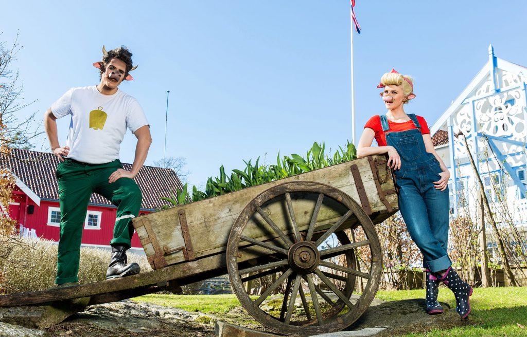 Klara og Mosk på Kutoppen i Dyreparken