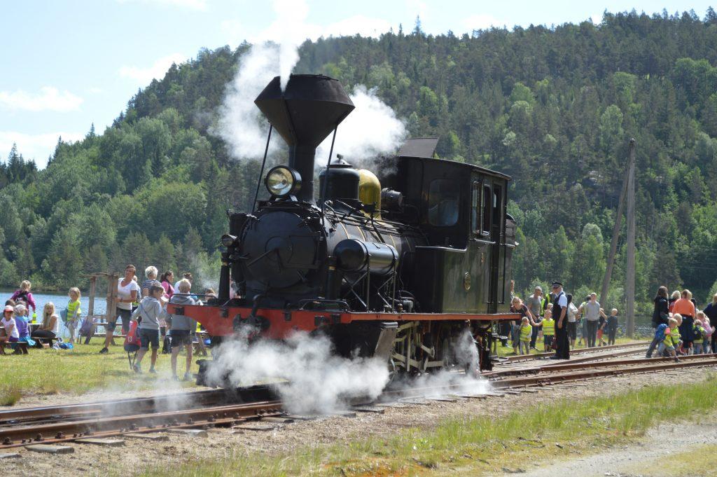 Bestill en togtur med ærverdige damplokomotiver og gamle trevogner. Foto: Linda Evensen