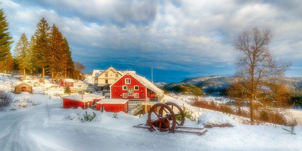 Vinter på Eikerapen gjestegard