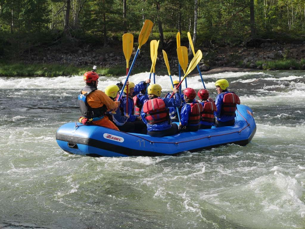 Rafting at TrollAktiv in Evje. Photo: Fieke/KidsErOpUit.