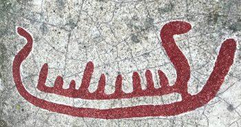Skipsmotiv av helleristning på Lista Foto Vest-Agder-museet