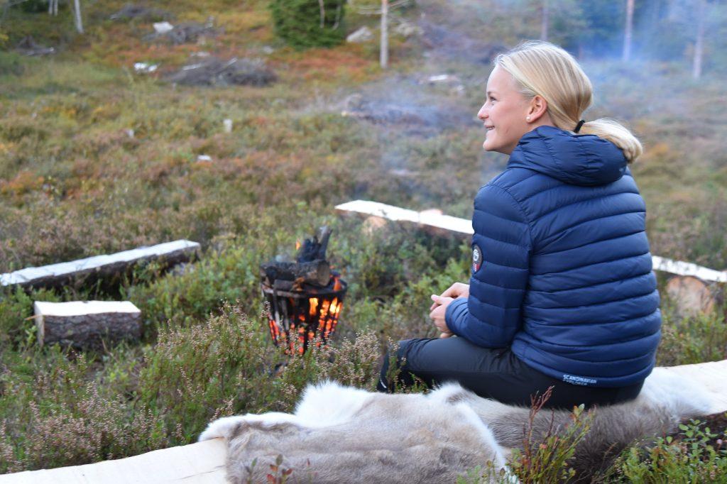 Tenn et bål, se på stjernene og nyt naturen. Foto Elisabeth Høibo©Visit Sørlandet