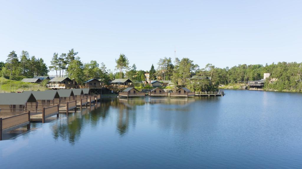 Dyreparken Safari Camp med enda flere telt.