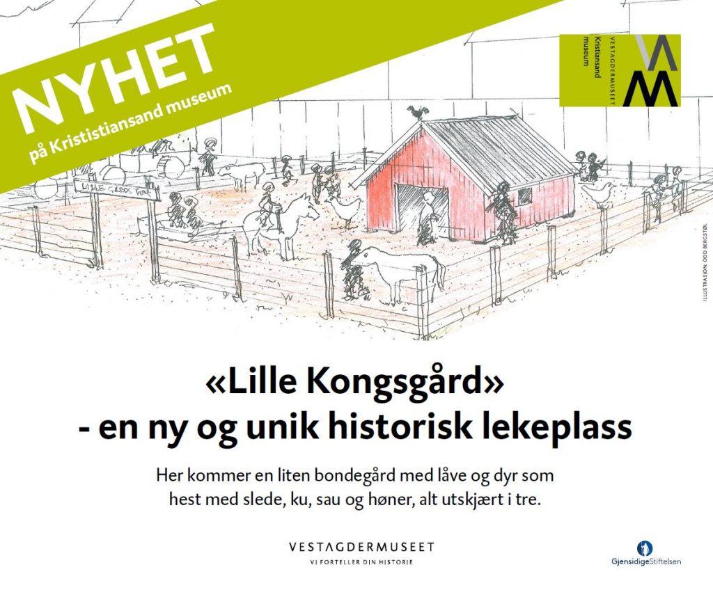 Museet har fått en helt ny lekeplass som heter «Lille Kongsgård».