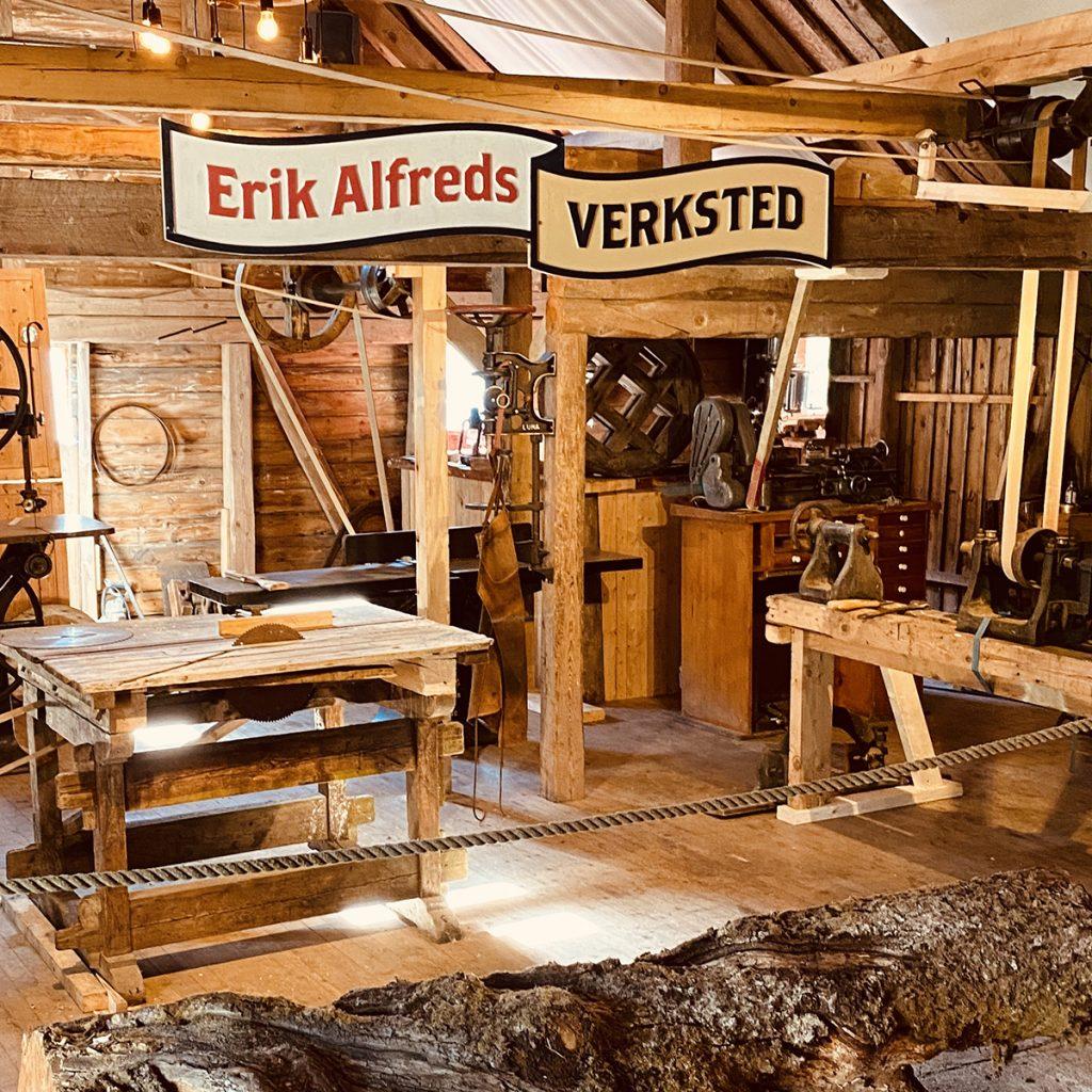 I Erik Alfreds eget verksted kan du elv lage ting